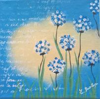 <h5>Titel: Blomster i det fri-2</h5><p>Malet på lærred 20x20</p>