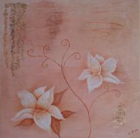 <h5>Titel: Lilje.</h5><p>Malet på lærred : 50x50</p>