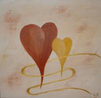 <h5>Titel: Hjerter.</h5><p>Malet på lærred : 50x50</p>