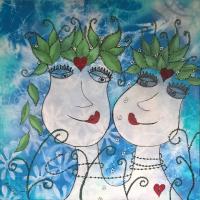 <h5>Titel: Fabelagtig kærlighed-1</h5><p>Malet på lærred : 50x50</p>