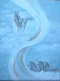 <h5>Titel: De vilde heste.</h5><p>Malet på lærred : 30x40</p>